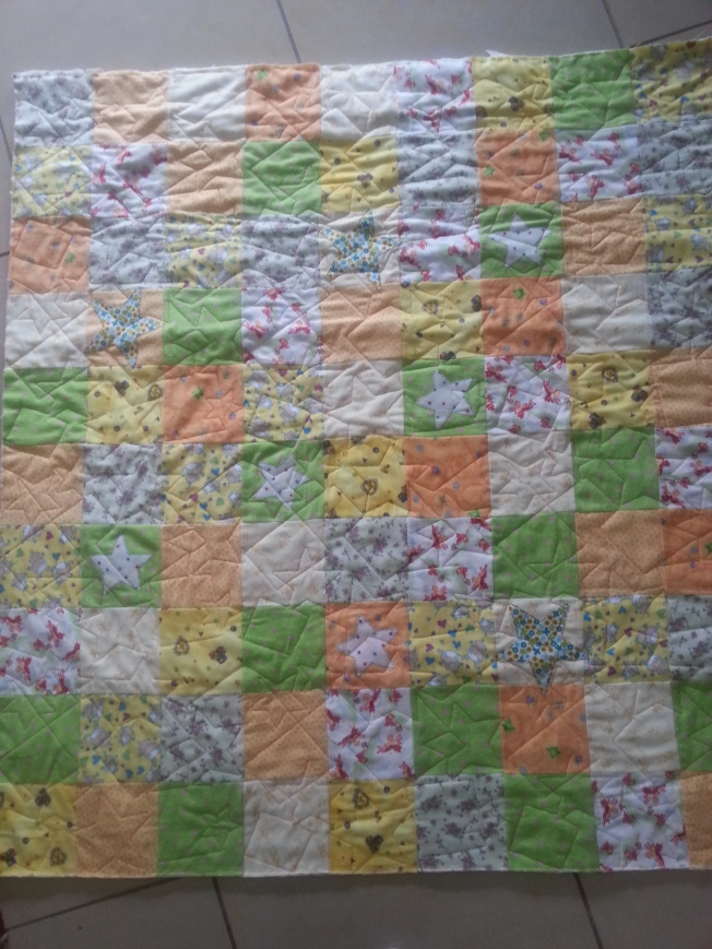 Baby flannel quilt with stars