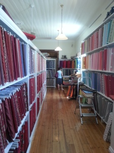 Stunning array of fabric