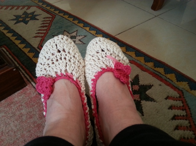Crochet slippers from Etsy store - Jam Tarts