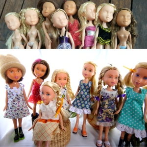 Before and after dolls